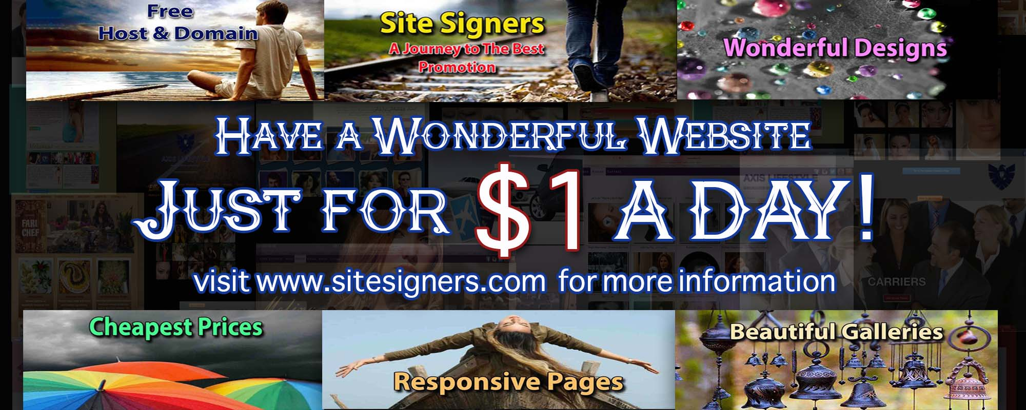 Pay $1 a day for website